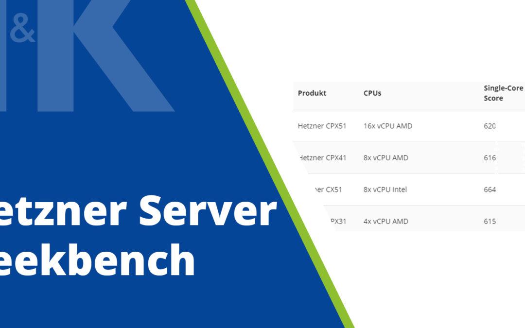 Geekbench Hetzner Server
