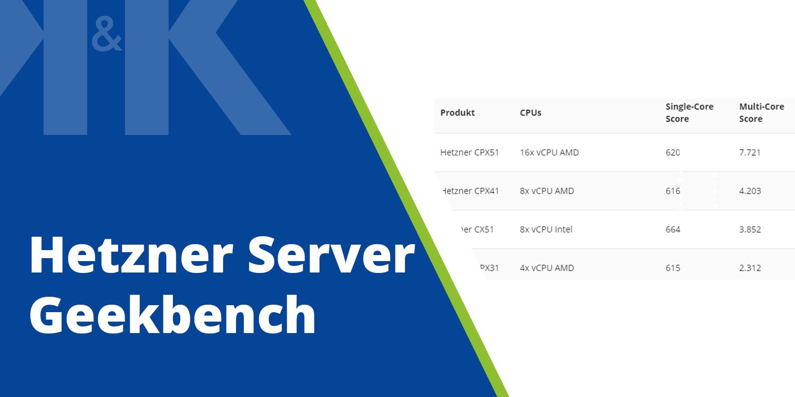 Blogpost Thumbnail Geekbench Hetzner Server